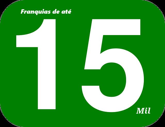 Franquias de até quinze mil reias