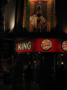 Rede de franquias Burger King.
