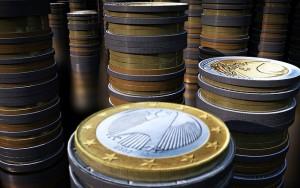 Pilha de moedas.