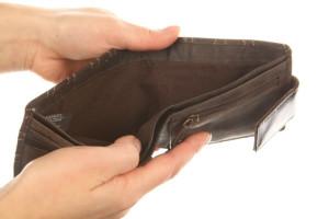 Carteira sem dinheiro