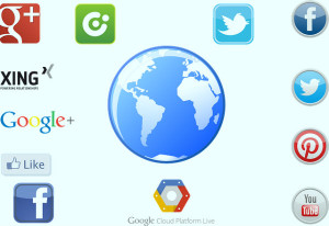 Utilização de mídias sociais em publicidade.
