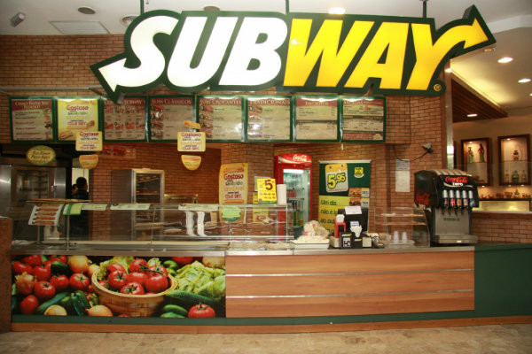 Franquias Subway.